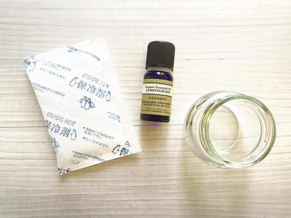 余った保冷材で作る簡単アロマ消臭剤