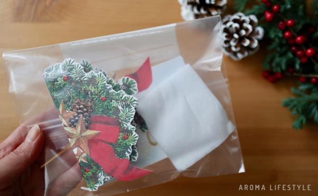クリスマスカード 香り付け アロマ